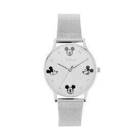 Disney Damenuhr Mickey Maus Kristalle Quarz - Analoguhren Damen   Oro Vivo