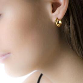 Damen Creolen Gold 375 10mm - Kategorie Damen | Oro Vivo