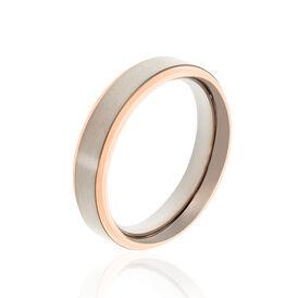 Boccia Boccia Damenring Titan Bicolor Rosé Vergoldet - Ringe Damen | Oro Vivo