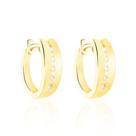 Damen Creolen Gold 375 Diamanten 0,08ct  - Creolen Damen | Oro Vivo