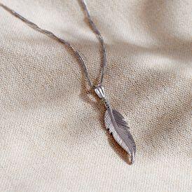 Anhänger Silber 925 Feder  - Schmuckanhänger Damen | Oro Vivo
