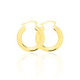 Damen Creolen Gold 375 Kristall 22mm -  Damen | Oro Vivo