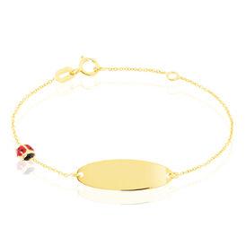 Kinder Id Armband Gold 375 Gravierbar Marienkäfer - ID-Armbänder Kinder | Oro Vivo