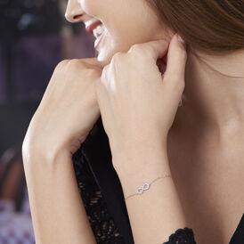 Damenarmband Weißgold 375 Zirkonia Infinity -  Damen | Oro Vivo