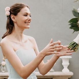 Damenarmband Weißgold 375 Diamanten 0,05ct Herz - Armbänder Damen   Oro Vivo