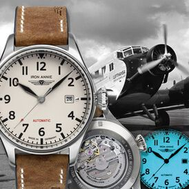 Iron Annie Herrenuhr Flight Control 5162-3 Quarz - Analoguhren Herren | Oro Vivo