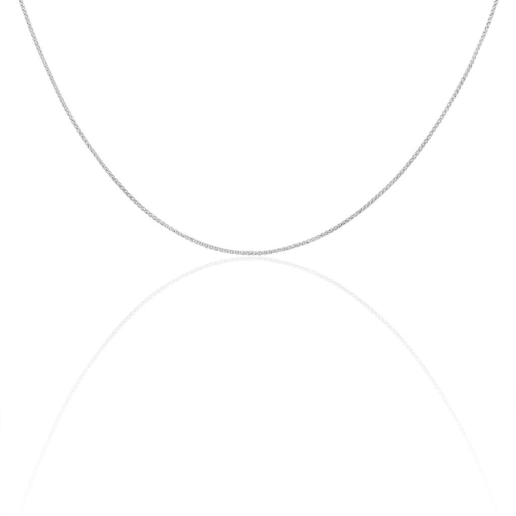 Damen Zopfkette Weißgold 585 45cm - Ketten ohne Anhänger Damen | Oro Vivo