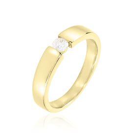Spannring Gold 375 Diamant 0,2ct  - Ringe mit Edelsteinen Damen   Oro Vivo