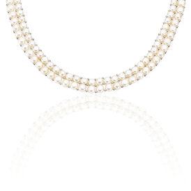 Damen Collier Silber 925 Zuchtperlen 5-7mm - Ketten mit Stein Damen   Oro Vivo