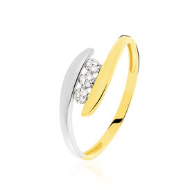 Spannring Gold 375 Bicolor Diamant 0,027ct - Kategorie Damen | Oro Vivo