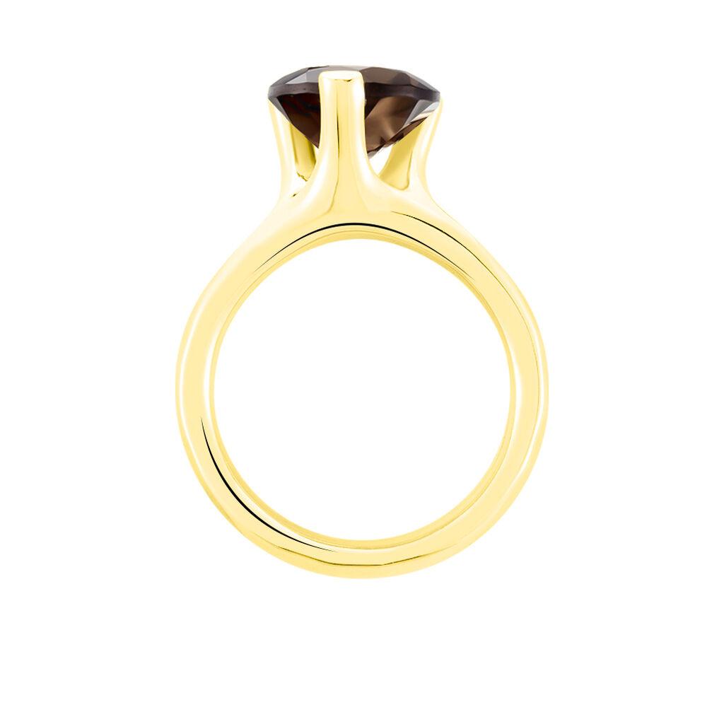 Cocktailring Gold 375 Quarz 3,3ct Heiko Schrem - Black Friday Damen | Oro Vivo