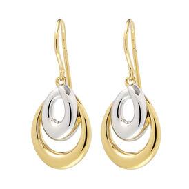 Damen Ohrhänger Lang Vergoldet Bicolor  - Ohrhänger Damen   Oro Vivo