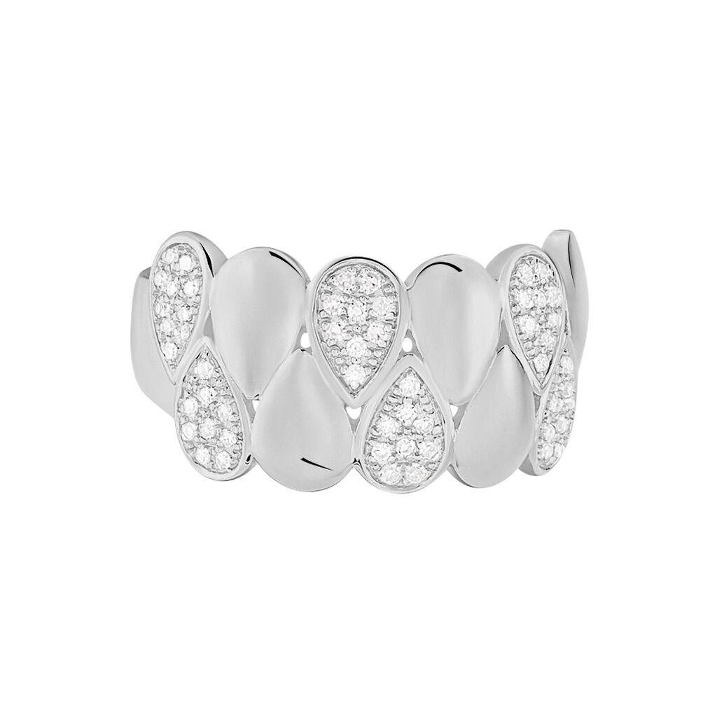 Damenring Weißgold 375 Diamanten 0,146ct - Ringe mit Edelsteinen Damen   Oro Vivo