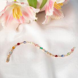 Damenarmband Vergoldet Multicolor Synthetischer Stein  - Armbänder Damen | Oro Vivo