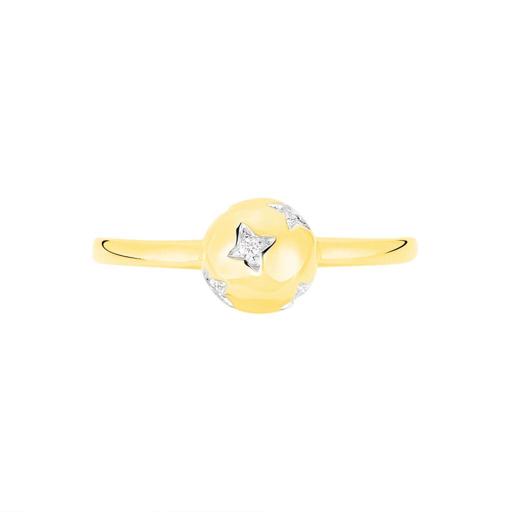Damenring Gold 375 Diamant 0,05ct  - Ringe mit Edelsteinen Damen | Oro Vivo