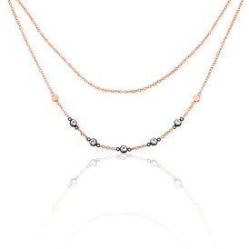 Fossil Damen Halskette Edelstahl Rosé Vergoldet  -  Damen | Oro Vivo