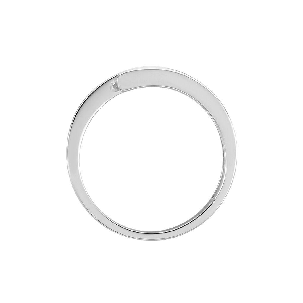 Spannring Weißgold 375 Diamanten 0,132ct - Ringe mit Edelsteinen Damen | Oro Vivo
