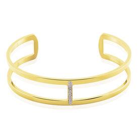 Damen Armreif Edelstahl Vergoldet Kristall - Armreifen Damen   Oro Vivo