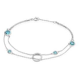 Damenarmband Silber 925 Glasstein rhodiniert - Armbänder Damen | Oro Vivo