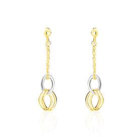 Damen Ohrstecker Lang Gold 375 Bicolor  - Ohrstecker lang  | Oro Vivo