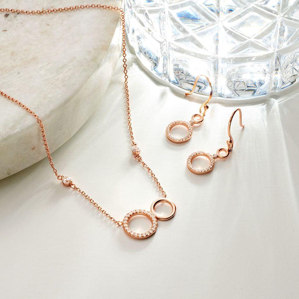 Damen Halskette Silber 925 Rosé Vergoldet - Ketten mit Anhänger Damen   Oro Vivo