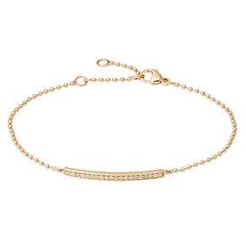 Damenarmband Kugelkette Zirkonia Vergoldet  -  Damen | Oro Vivo