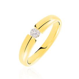 Spannring Gold 585 Diamant 0,2ct - Ringe mit Edelsteinen Damen   Oro Vivo