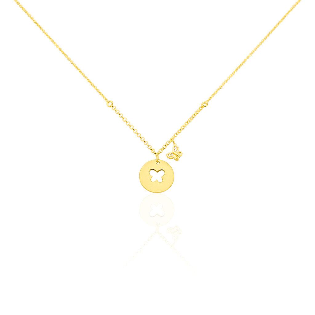 Kinder Halskette Silber 925 Vergoldet Zirkonia - Ketten mit Anhänger Kinder | Oro Vivo