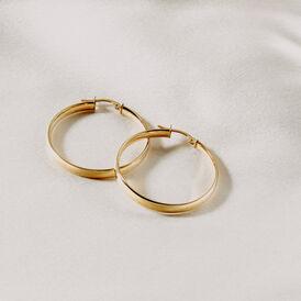 Damen Creolen Gold 375 30mm - Creolen Damen | Oro Vivo