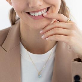 Damen Halskette Gold 375 Topas - Ketten mit Anhänger  | Oro Vivo