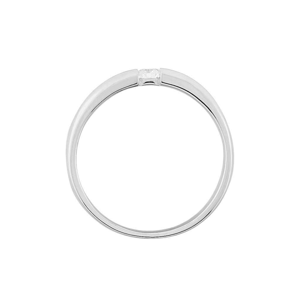 Spannring Weißgold 585 Diamant 0,1ct - Ringe mit Edelsteinen Damen   Oro Vivo