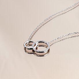 Damen Halskette Silber 925 Zirkonia  -  Damen | Oro Vivo