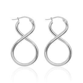 Damen Creolen Silber 925 Infinity -  Damen | Oro Vivo