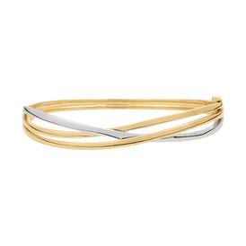 Damen Armreif Vergoldet Bicolor  - Armreifen Damen   Oro Vivo