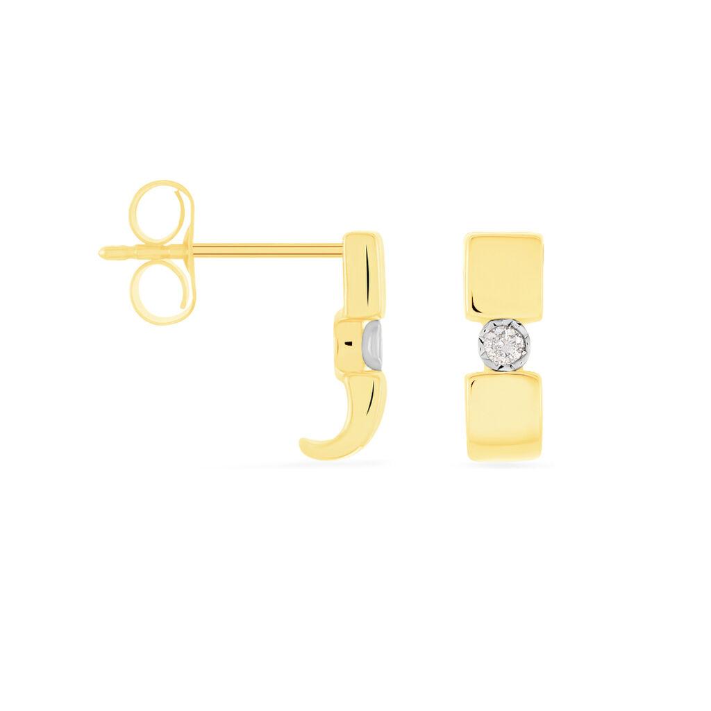 Damen Ohrstecker Gold 375 Diamant 0,04ct  - Ohrstecker Damen   Oro Vivo