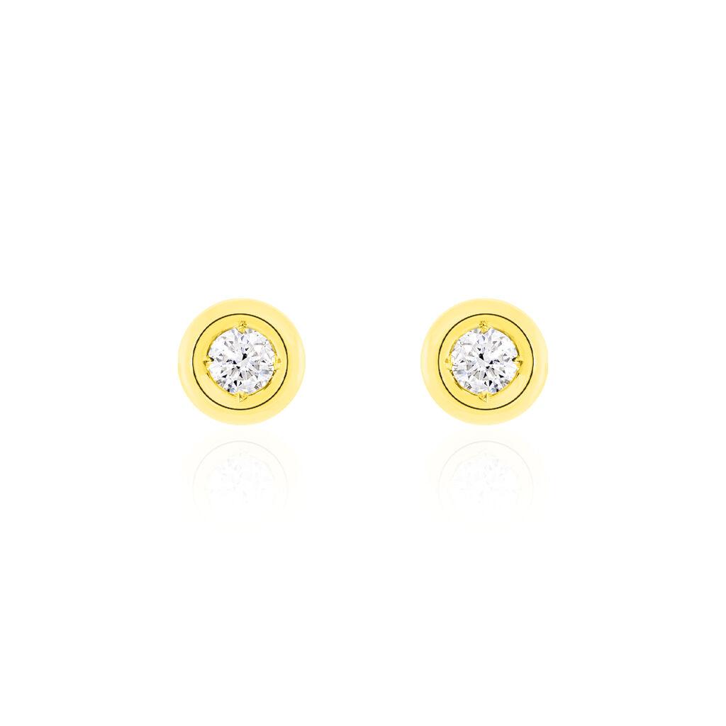 Damen Ohrstecker Gold 750 Diamant 0,2ct  - Ohrstecker Damen | Oro Vivo