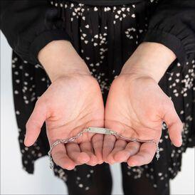 Damen Id Armband Singapurkette Silber 925  - ID-Armbänder Damen   Oro Vivo