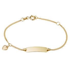 Kinder Id Armband Panzerkette Gold 585 Herz -  Kinder | Oro Vivo