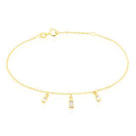 Damenarmband Gold 375 Zirkonia Viereck -  Damen | Oro Vivo