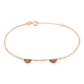 Damenarmband Gold 375 Rosé Vergoldet  -  Damen   Oro Vivo