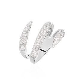 Damenring Weißgold 750 Diamanten 0,28ct - Ringe mit Edelsteinen Damen | Oro Vivo