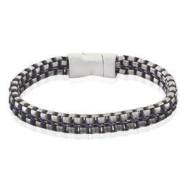 Herrenarmband Edelstahl Geschwärzt - Armbänder Herren | Oro Vivo