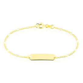 Kinder Id Armband Figarokette Gold 375 Gravierbar -  Kinder | Oro Vivo