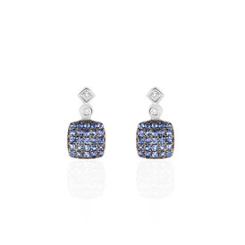 Damen Ohrstecker Weißgold 375 Saphir Diamanten - Ohrstecker Damen | Oro Vivo