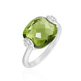 Damenring Gold 375 Glasstein Zirkonia - Ringe mit Stein Damen | Oro Vivo