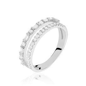 Pavéring Weißgold 375 Diamanten 0,19ct - Eheringe Damen | Oro Vivo