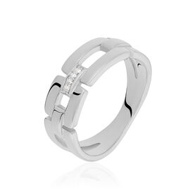 Damenring Silber 925 Diamant 0,016ct - Ringe mit Edelsteinen Damen | Oro Vivo