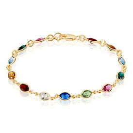 Damenarmband Vergoldet Multicolor Synthetischer Stein  -  Damen | Oro Vivo