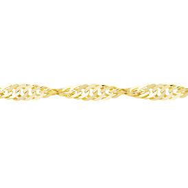 Damen Singapurkette Gold 375 45cm - Ketten ohne Anhänger Damen   Oro Vivo