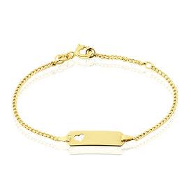 Kinder Id Armband Gold 375 Herz - ID-Armbänder Kinder   Oro Vivo